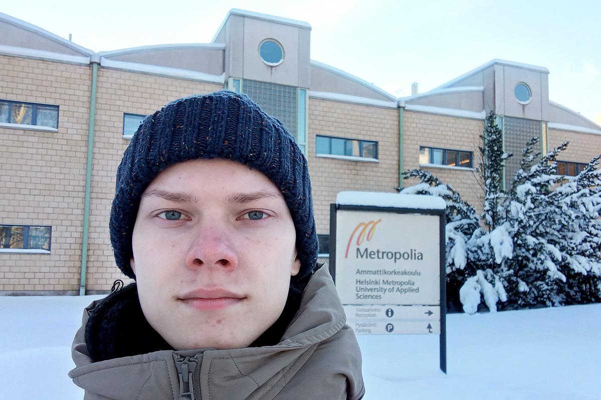 Estudiante Politécnico sobre sus estudios en Finlandia en el marco del programa Erasmus+ durante la pandemia