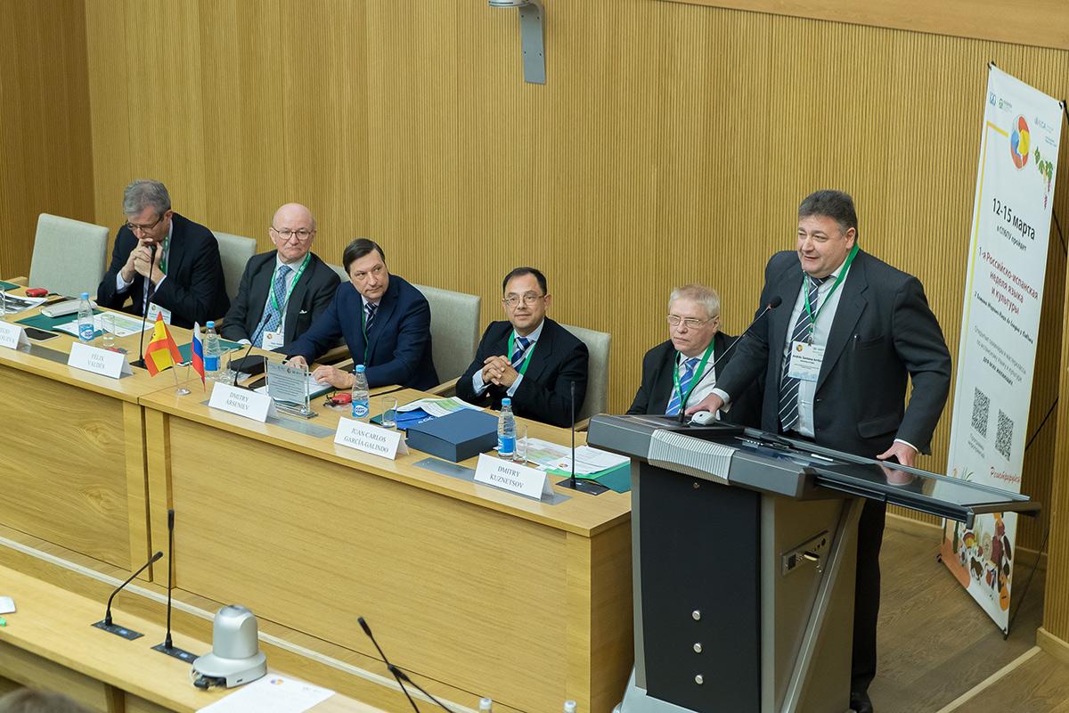 Jefe de la Aula Universaria Hispana-Rusa y del Instituto Pushkin de la Universidad de Cádiz Andrés Santana Arribas