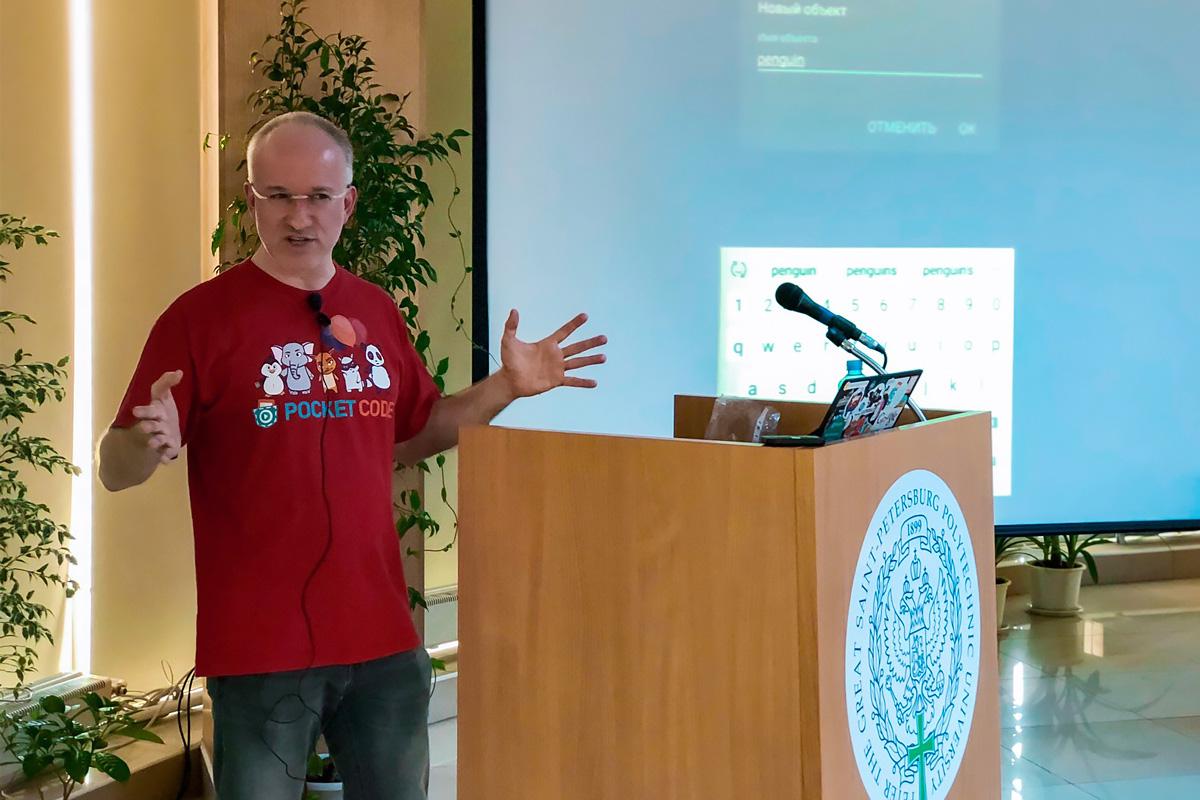 "El profesor de UT de Graz enseñó a los escolares y estudiantes a ""codificar"" en Catrobat"