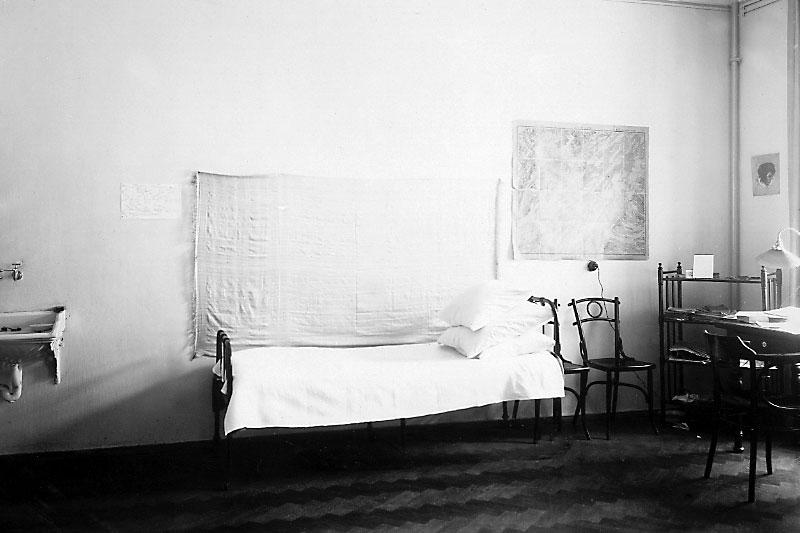 Habitación en una residencia universitaria, año 1902
